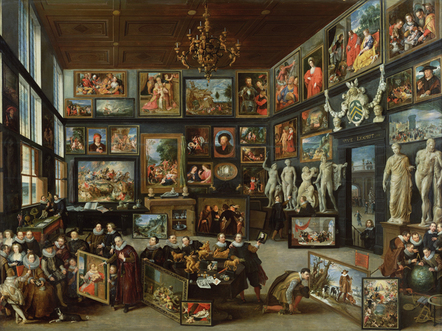 Willem van Haecht, The Gallery of Cornelis van der Geest, 1628, Antwerp, Rubenshuis 17th century painting