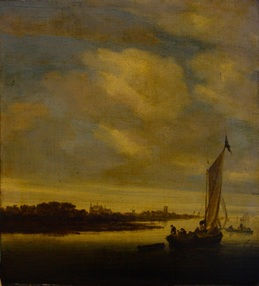 Foto Salomon van Ruysdael before restoration