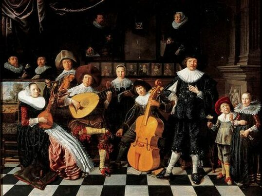 Jan Miense Molenaer, Selfportrait with his Family making Music ​Panel 1630s Haarlem, Frans Hals Museum seventeenth century painting